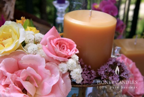 3x3 beeswax candle