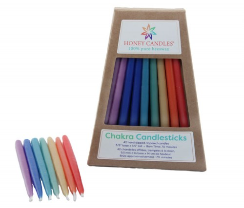 Beeswax Chakra Candlesticks