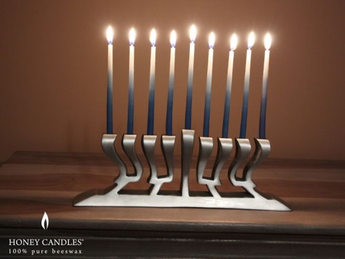 Beeswax Hanukkah candles